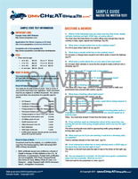 CDL (Commercial Driver's License) Written Test Study Material -- DMV Cheat Sheets